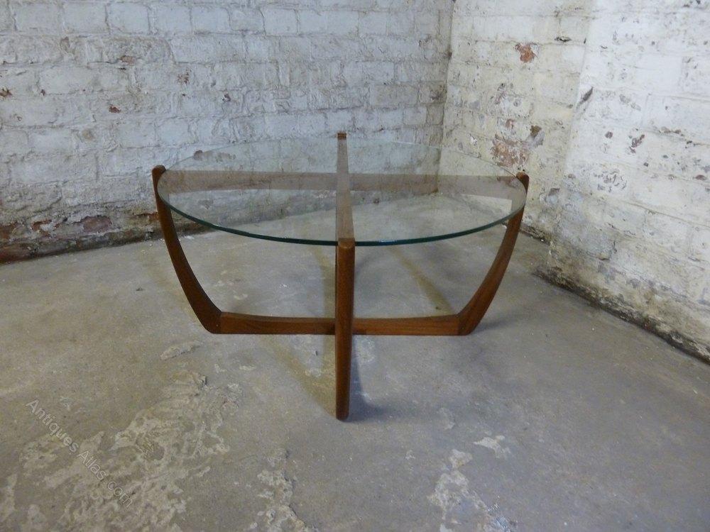 Antiques Atlas Mid Century Teak Coffee Table Circular Glass Top