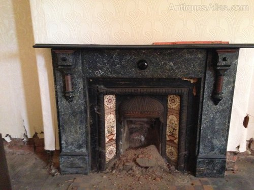 Antiques Atlas Victorian Painted Slate Fire Surround