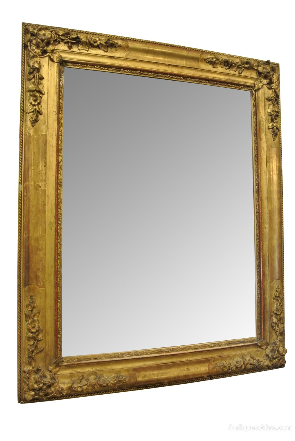 Antiques atlas small 19th c gilt mirror for What is a gilt mirror