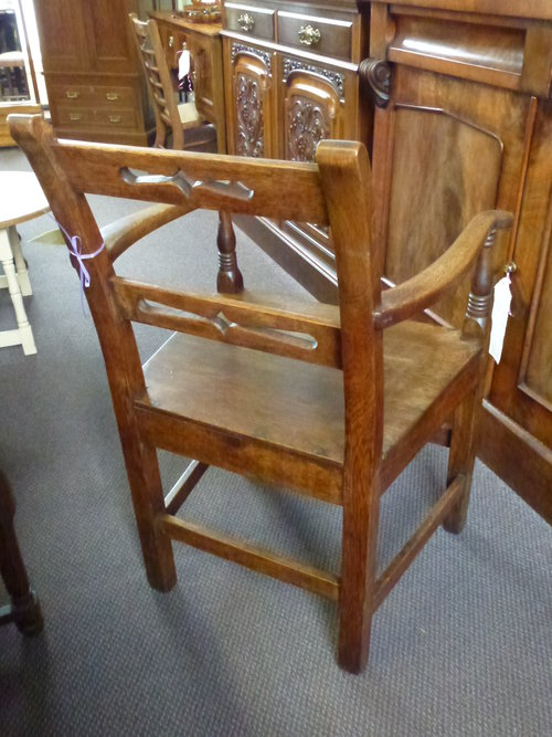 Antique Oak Country House Chair C1870