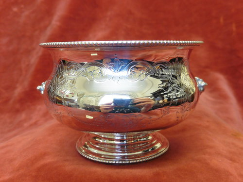 Antique Silver Engraved Bowl C1887