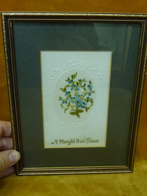 World War I Framed Silk Cards