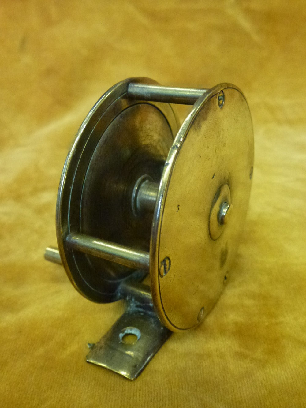 Antiques atlas vintage brass fishing reel for Vintage fishing reels for sale