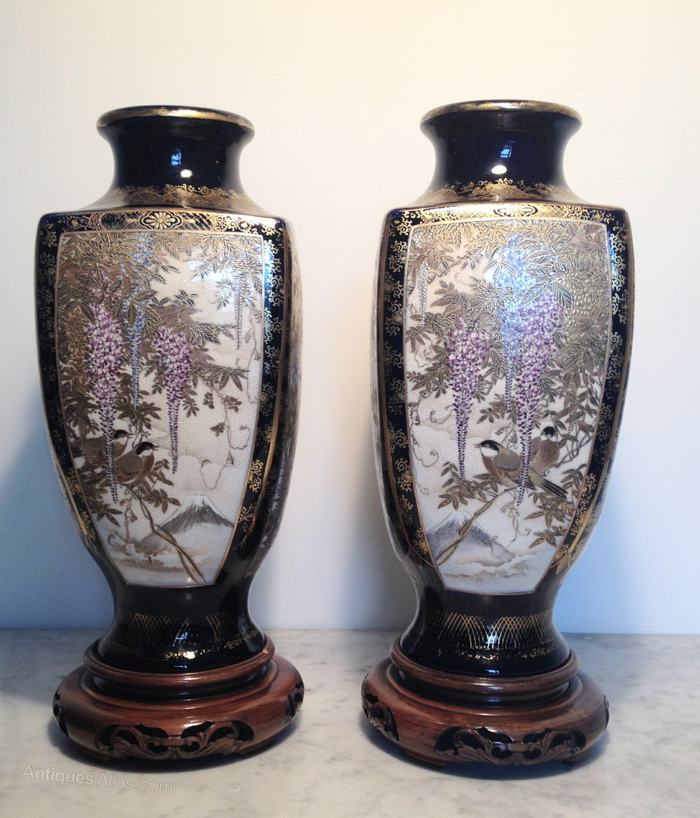 Antiques Atlas Pair Of Large Satsuma Vases
