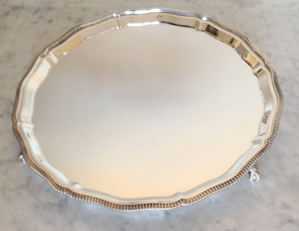 Antiques Atlas - Silver Plated Salver 12 Mappin And Webb