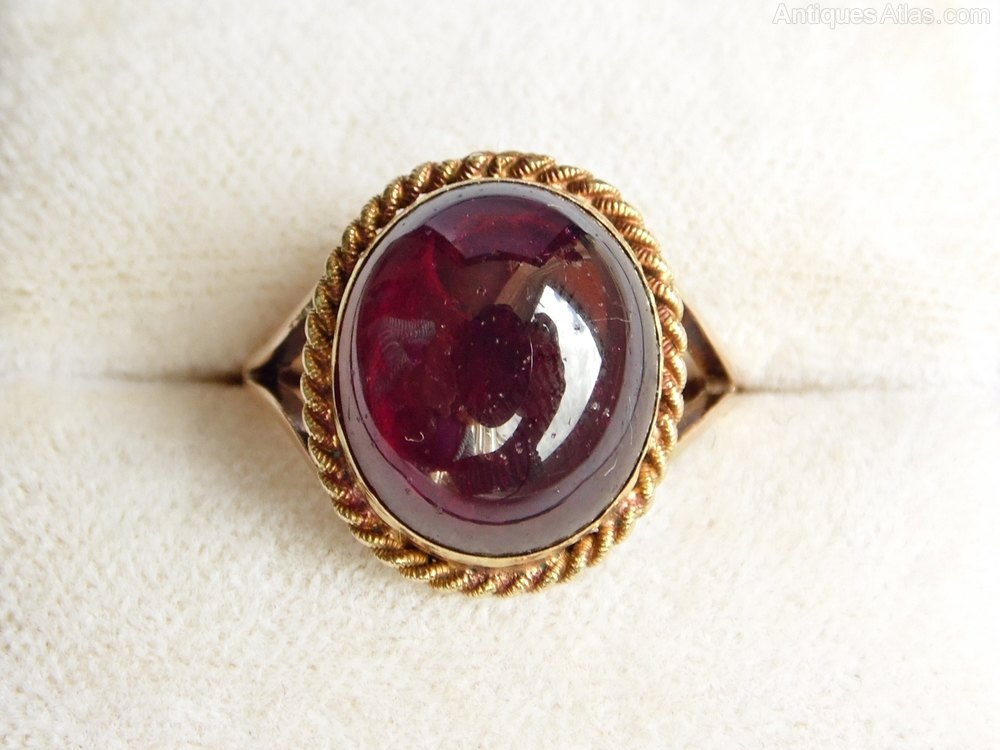 Antiques Atlas Antique Georgian Cabochon Garnet Ring In