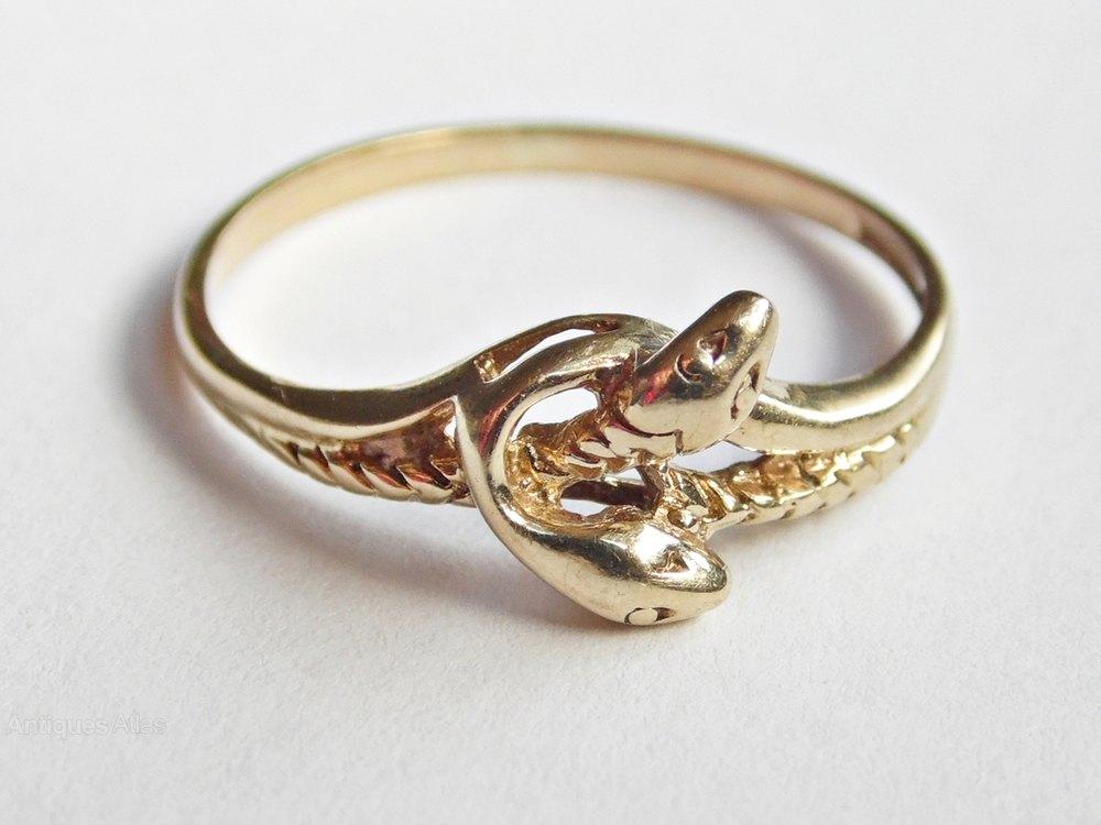Antiques Atlas Vintage English 9ct Gold Snake Eternity Ring
