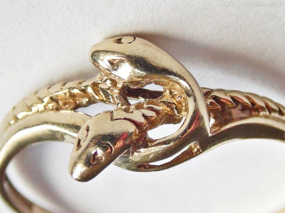 antiques atlas vintage 9ct gold snake eternity ring