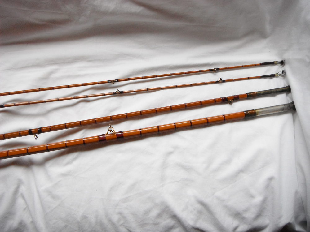 Antiques atlas hardys spit cane fishing rod for Old fishing rods