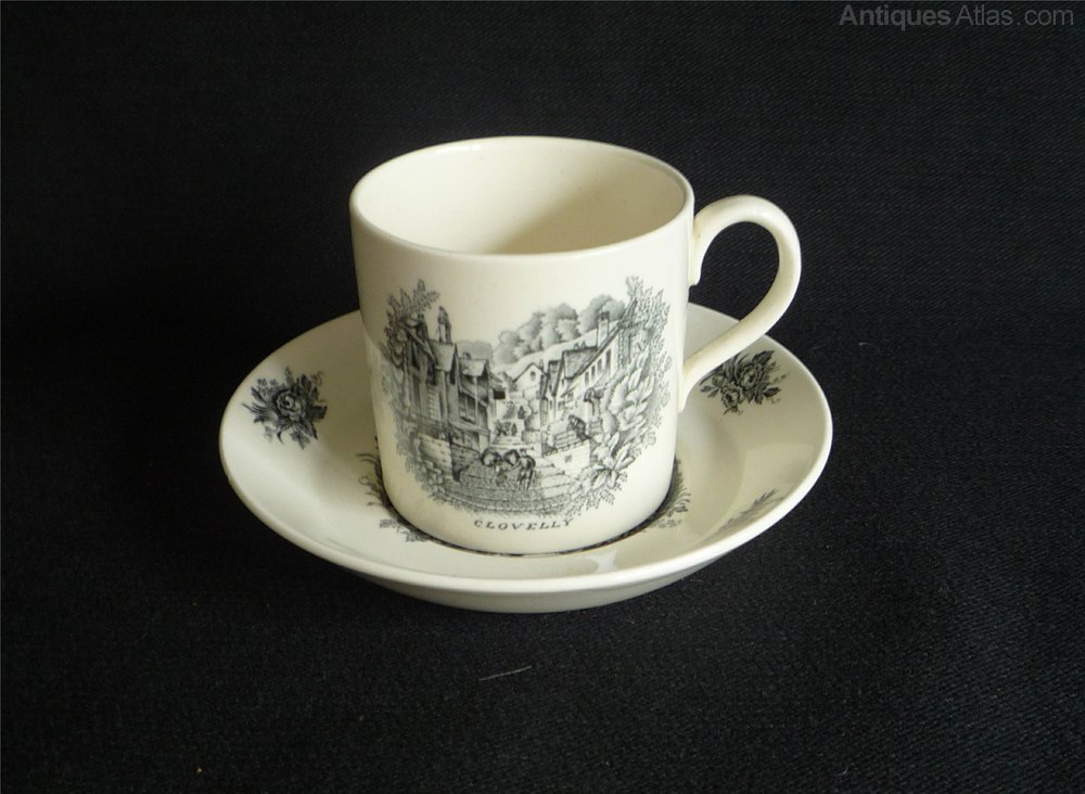 Antiques Atlas Rex Whistler Clovelly Coffee Can For Wedgwood