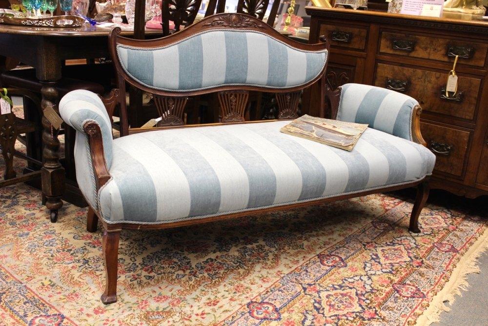 Regency Style Sofa In Blue Antiques Atlas