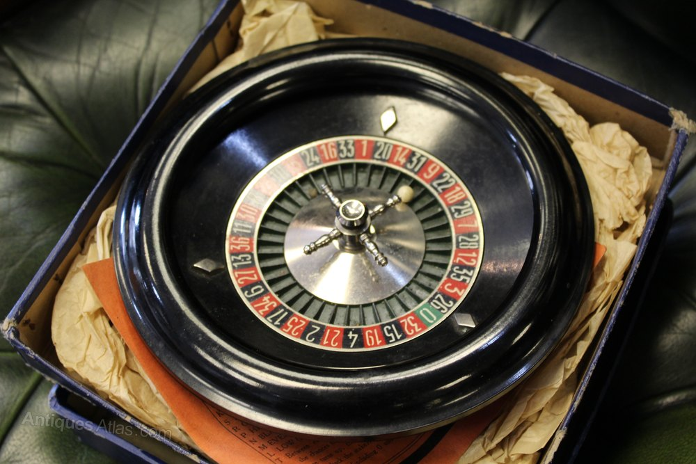 antiques atlas vintage desktop roulette wheel from harrods. Black Bedroom Furniture Sets. Home Design Ideas