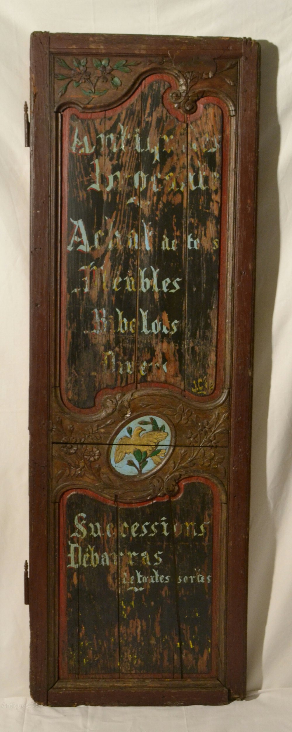 Antiques Atlas Distressed Looking Advertising Door Panel
