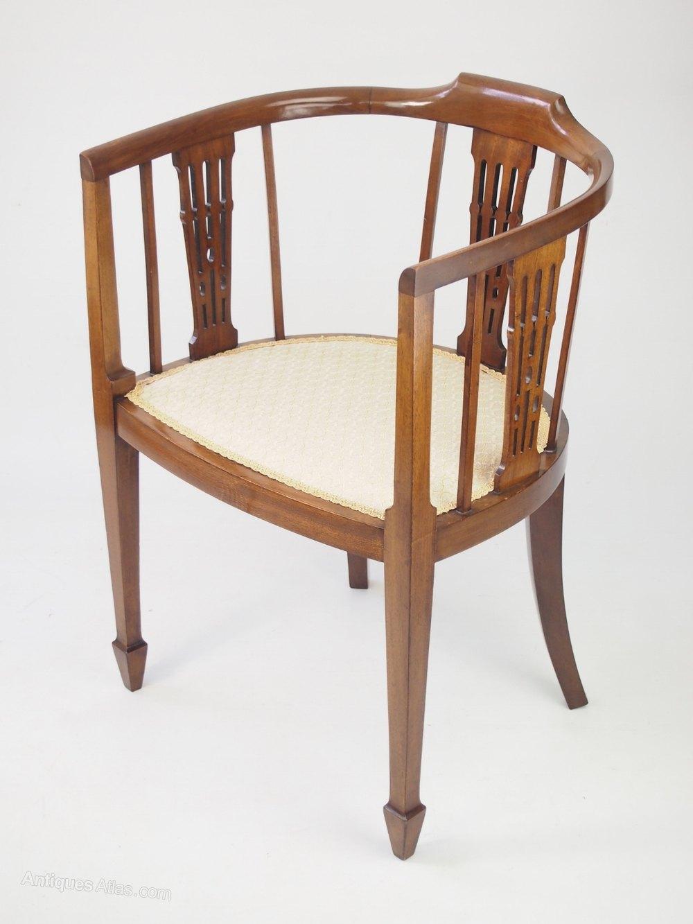 Antique tub chairs - Antique Edwardian Mahogany Tub Chair Antique Tub Chairs