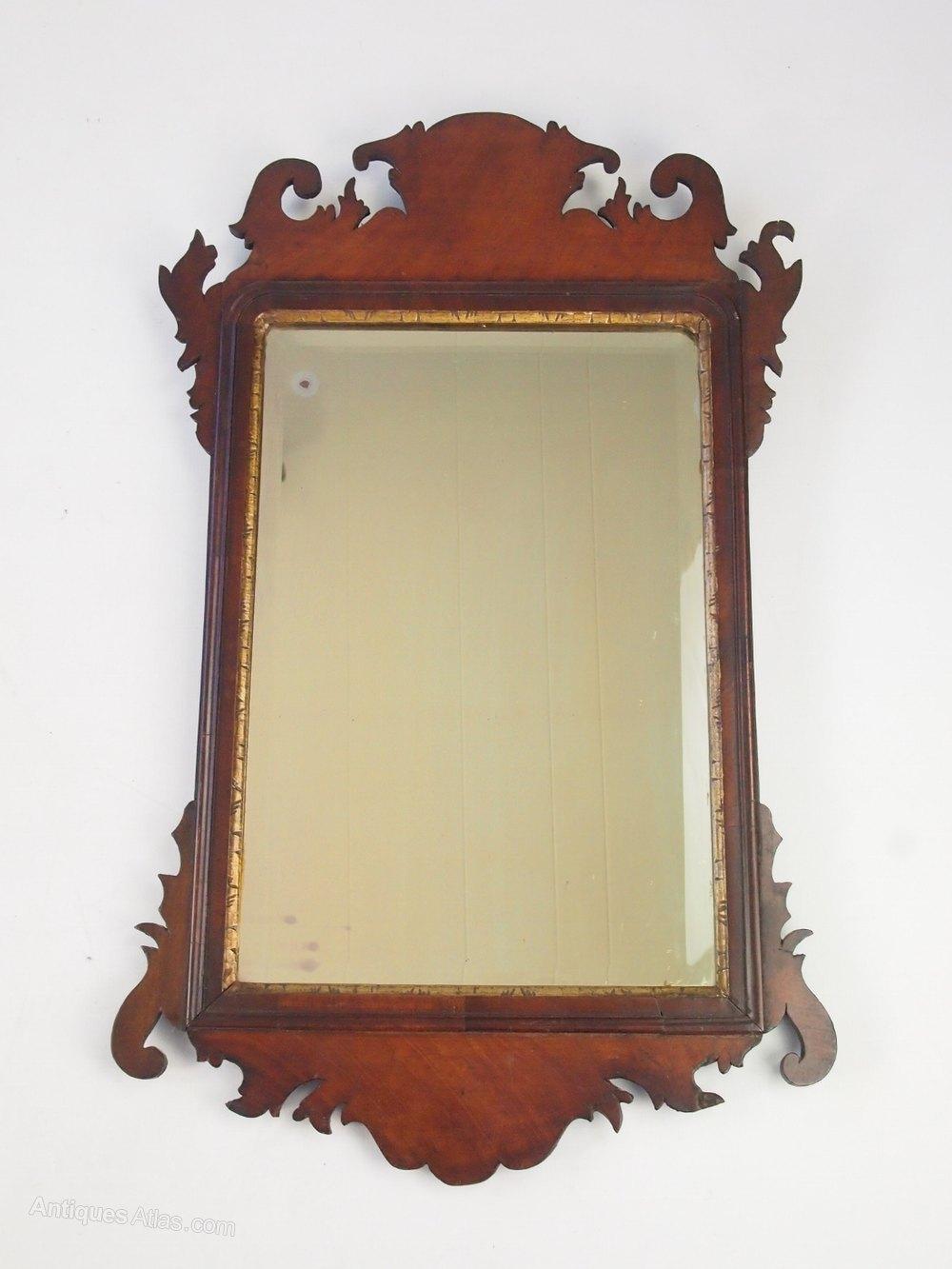 Antiques Atlas Antique Georgian Mahogany Fretwork Mirror