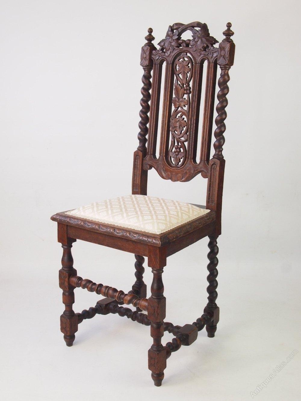 Antique Victorian Gothic Revival Oak Chair - Antiques Atlas