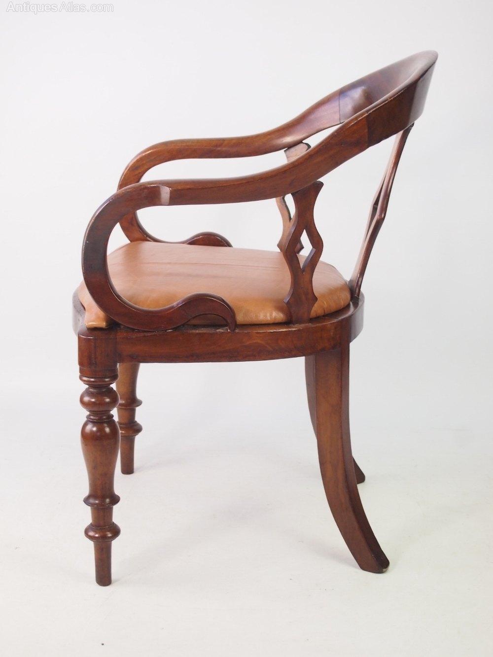 Antique victorian mahogany desk chair antiques atlas for Antique office chair