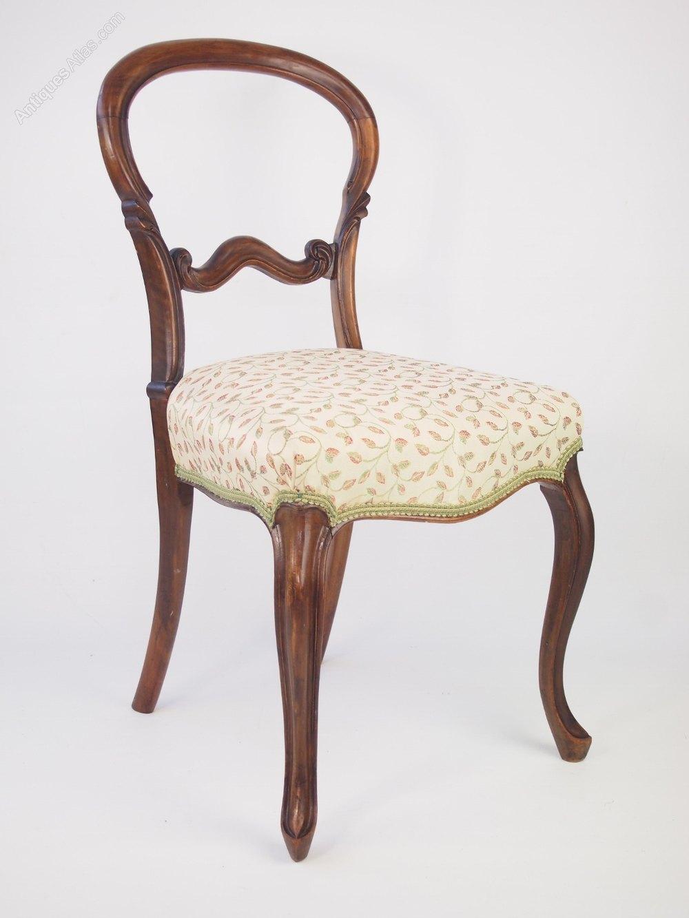 Antique Victorian Walnut Balloon Back Chair Antiques Atlas
