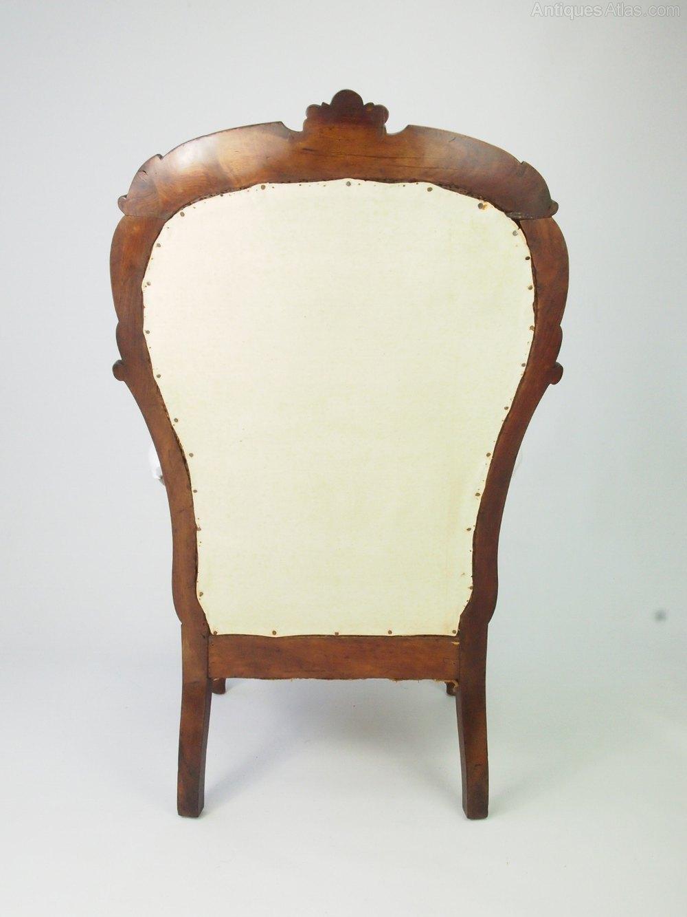 Antqiue Victorian Armchair Balloon Back Chair Antiques