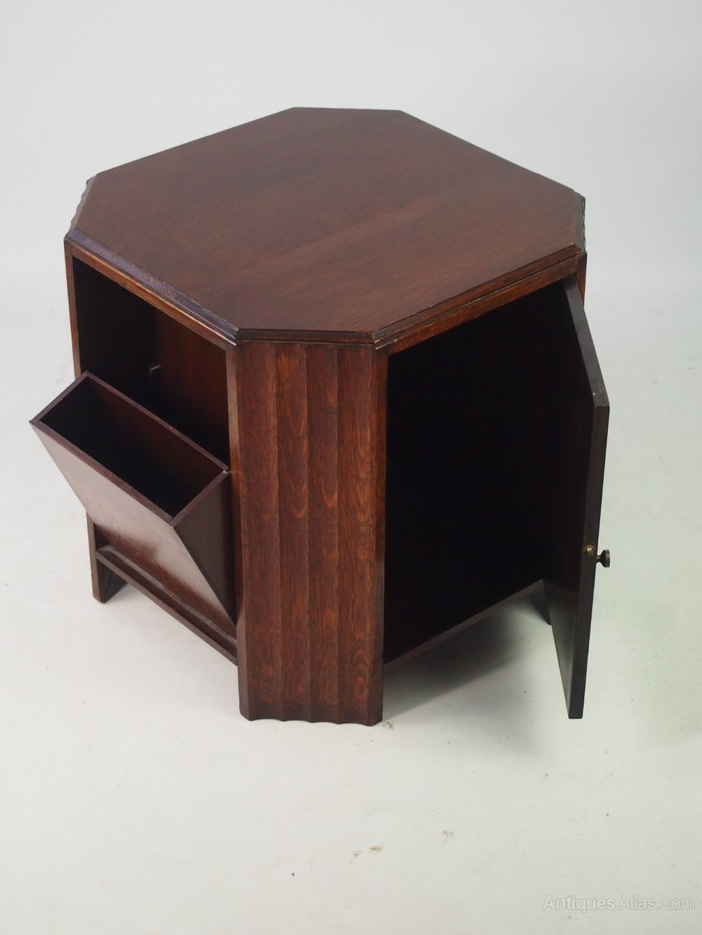 Art Deco Oak Book Table Or Coffee Table Antiques Atlas