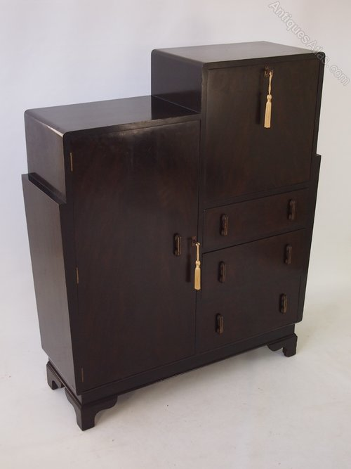 Art deco walnut bureau cabinet antiques atlas for Deco bureau