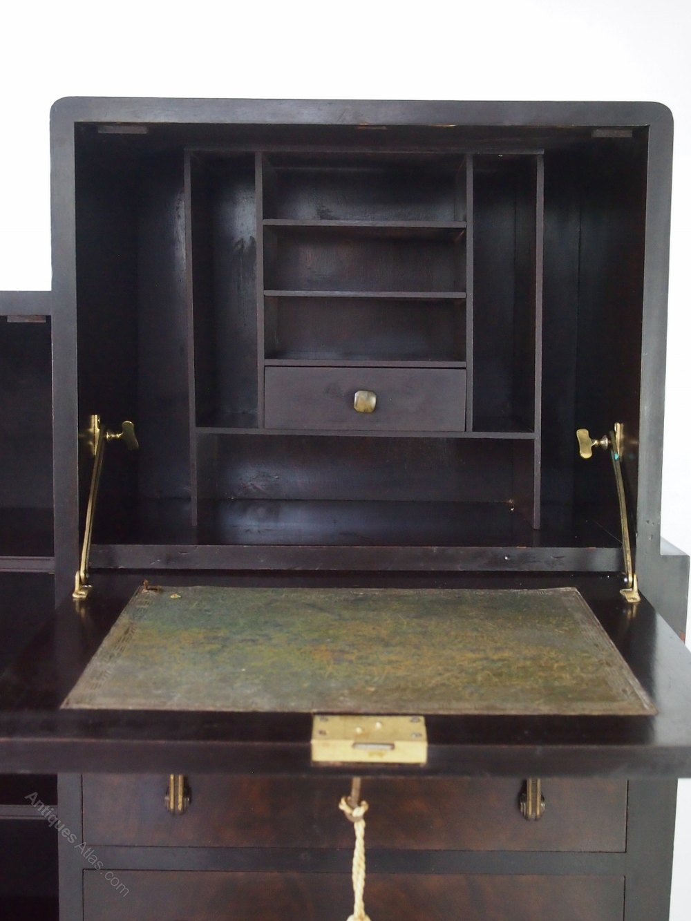 art deco walnut bureau cabinet antiques atlas. Black Bedroom Furniture Sets. Home Design Ideas