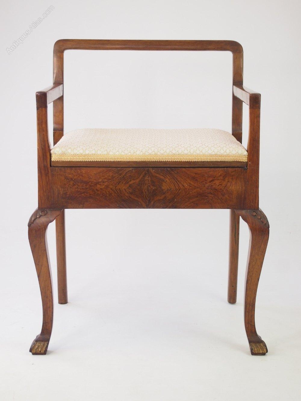 Art Deco Walnut Piano Stool Antique Piano Stools ... & Art Deco Walnut Piano Stool - Antiques Atlas islam-shia.org