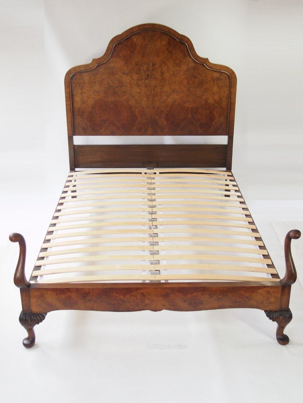 Burr Walnut Queen Anne Double Bed Antiques Atlas