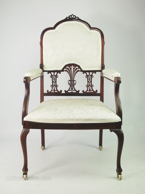 Edwardian Mahogany Armchair Or Bedroom Chair Antiques Atlas