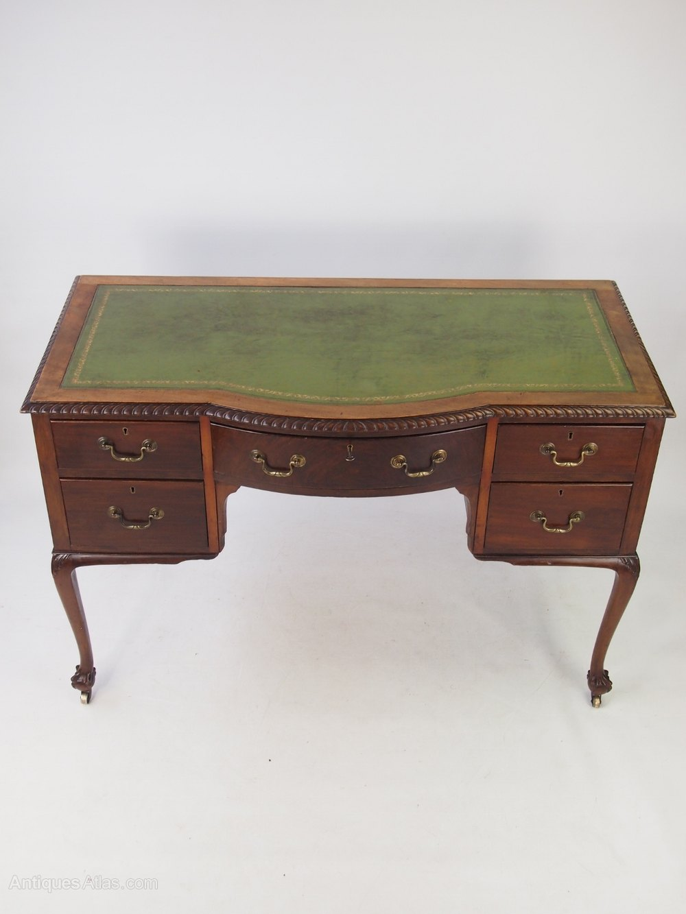 Mahogany Writing Desk ~ Edwardian mahogany writing desk antiques atlas