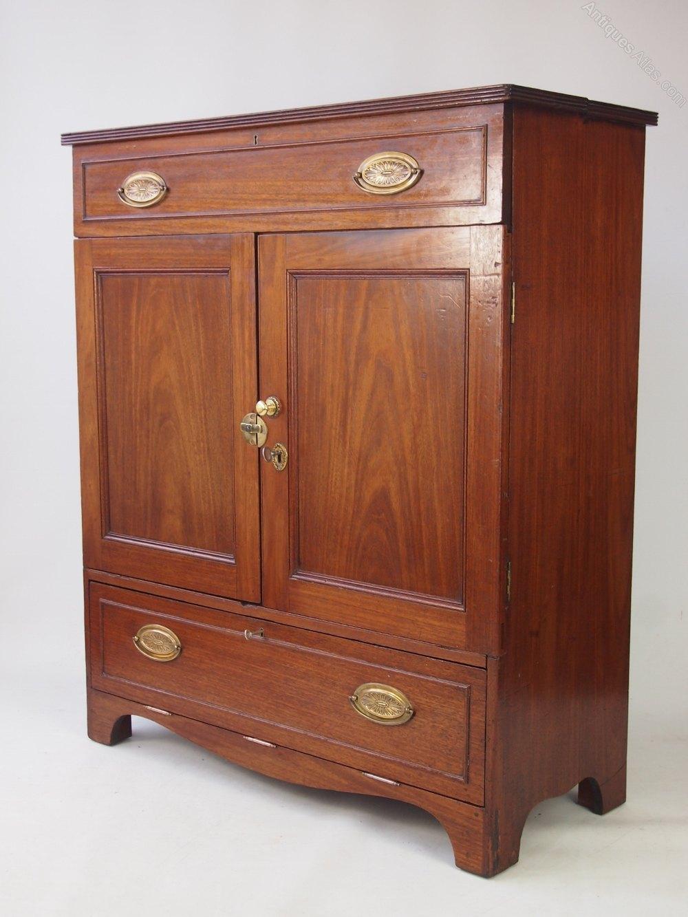 Georgian Mahogany Cabinet As A TV Cupboard  Antiques Atlas -> Mahogany Tv Sideboard