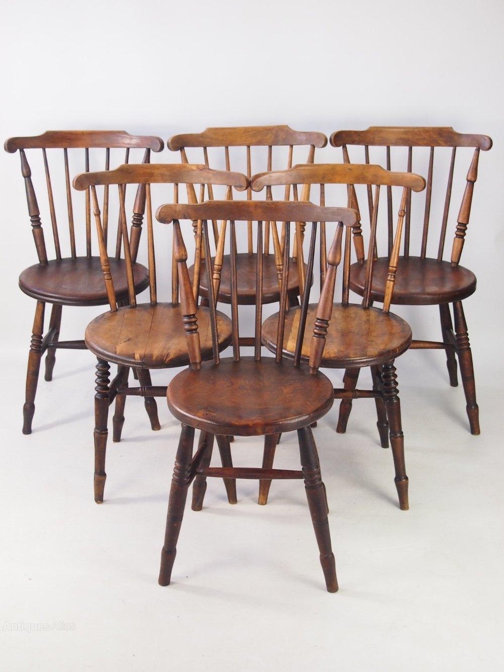 harlequin set 6 ibex victorian kitchen chairs antiques atlas
