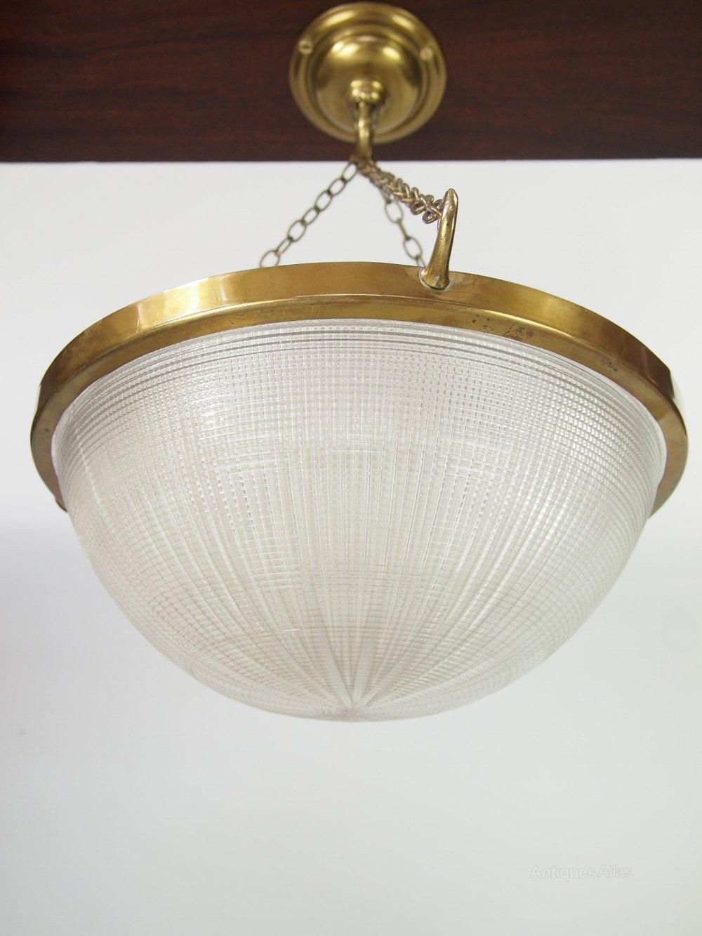 Antiques Atlas Holophane Prismatic Ceiling Light Shade