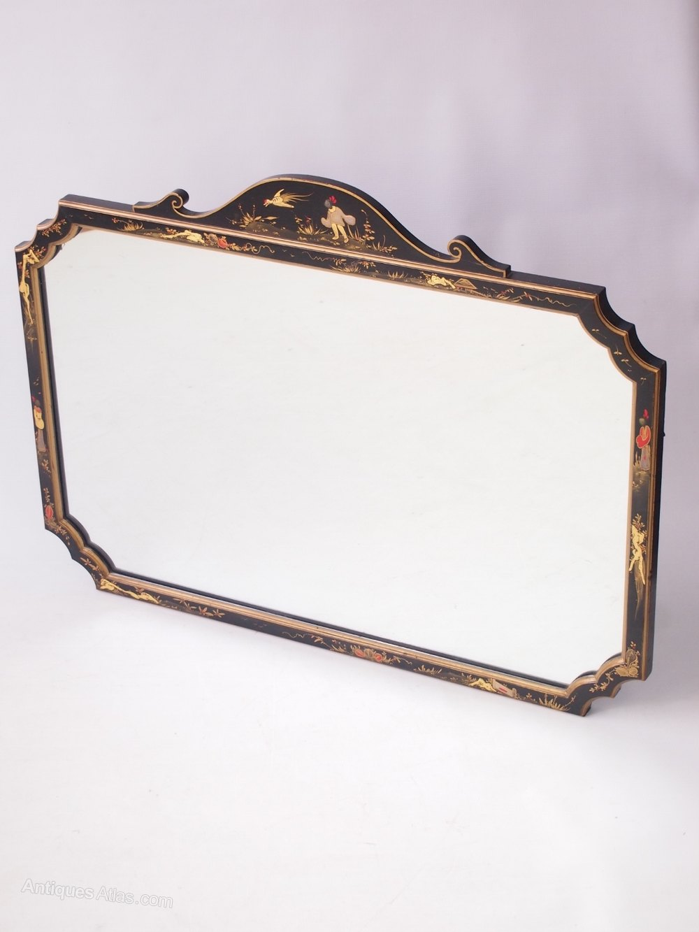 Antiques atlas large chinoiserie mirror or overmantle mirror for Overmantle mirror