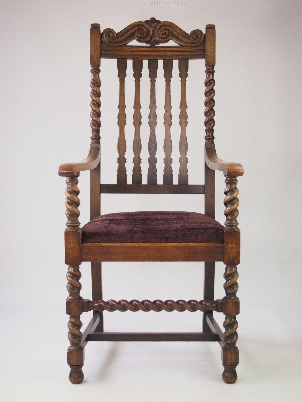 Large oak open armchair antiques atlas