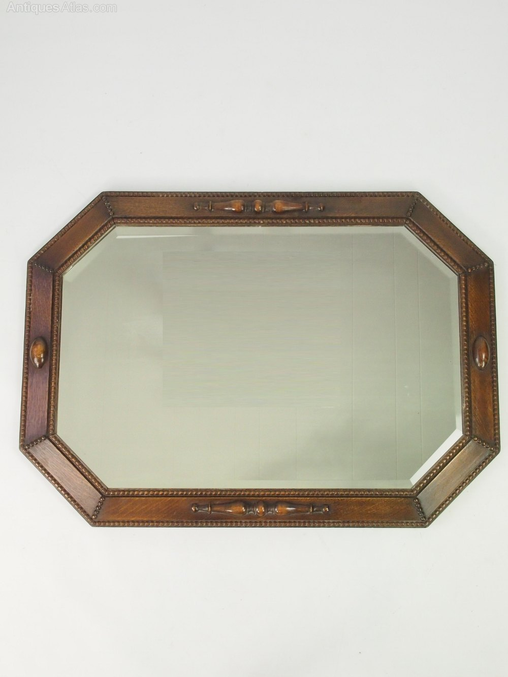 Antiques atlas large vintage oak framed mirror or overmantle for Big framed mirror