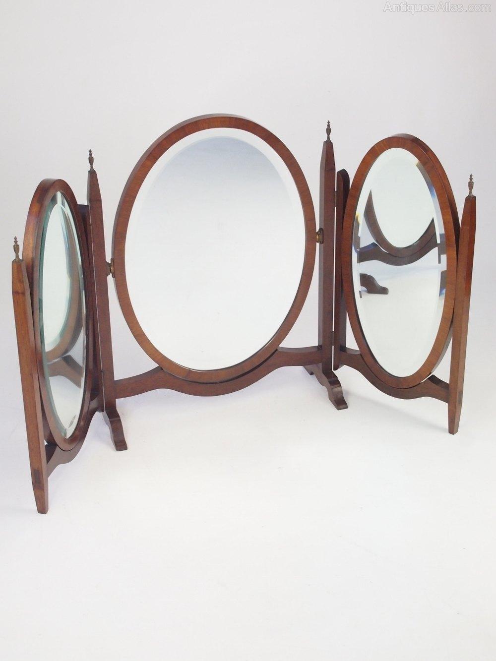 Antiques Atlas Mahogany Triple Dressing Table Mirror