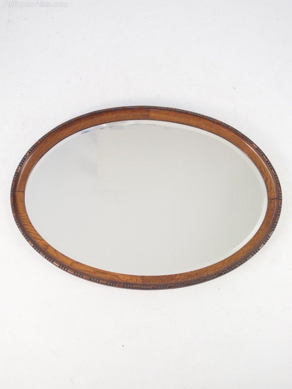 Antiques Atlas Oval Oak Framed Mirror Or Overmantle