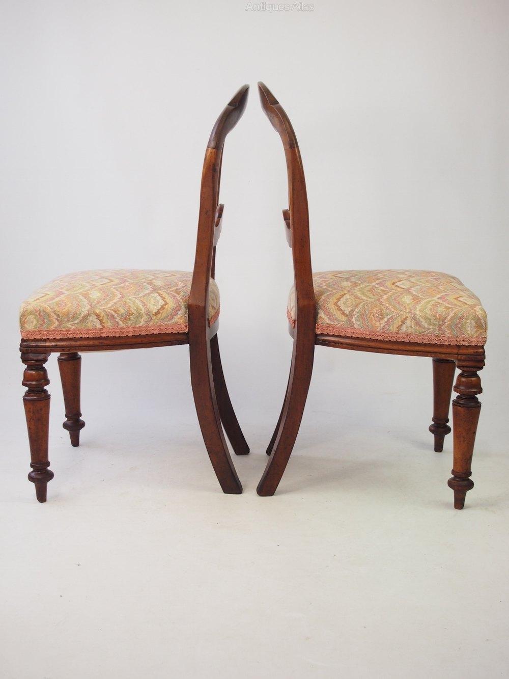 Pair Antique Victorian Balloon Back Chairs Antiques Atlas