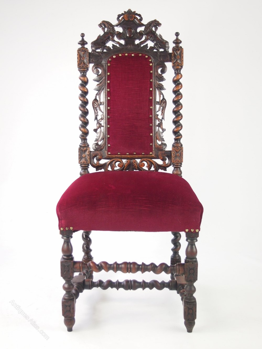 Pair Antique Victorian Gothic Oak Chairs Antique Armchairs, Occasional  Chairs & Stools ...