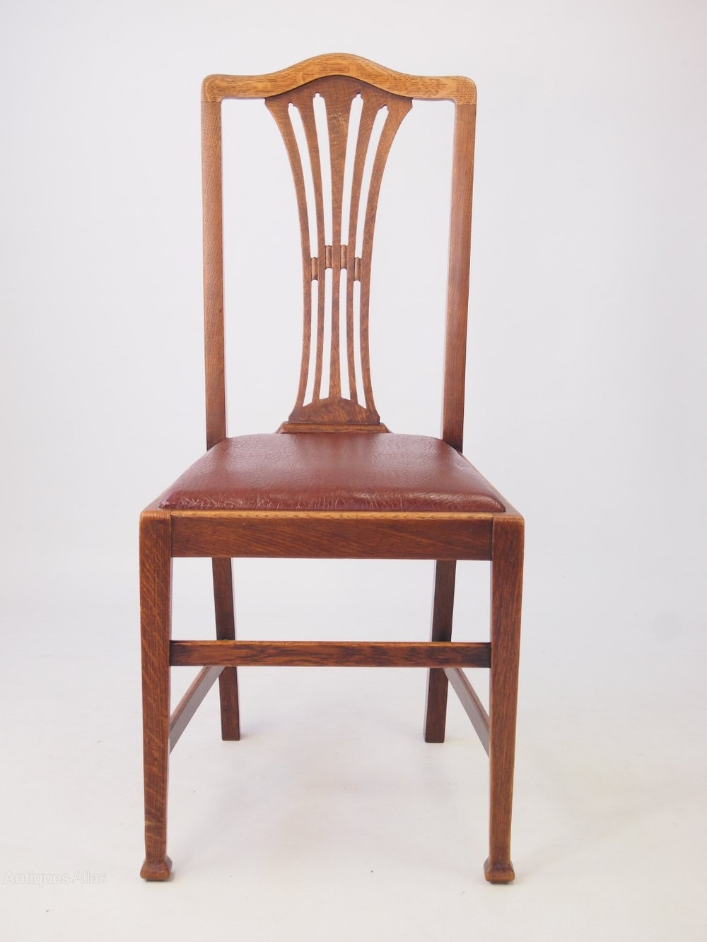 Antique Oak Chairs ~ Set edwardian oak dining chairs antiques atlas
