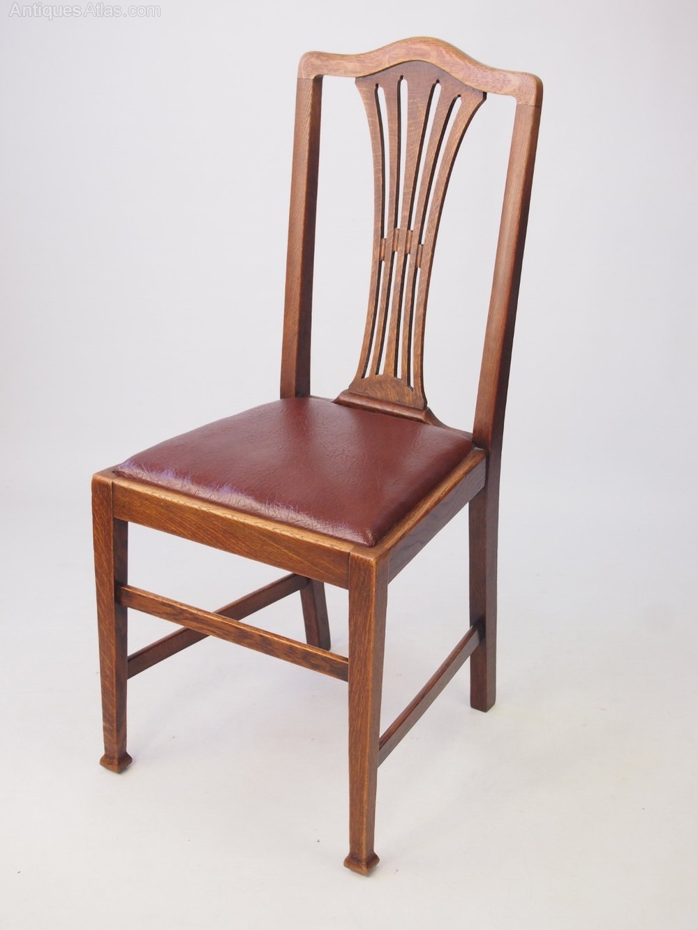 Set 4 Edwardian Oak Dining Chairs Antiques Atlas