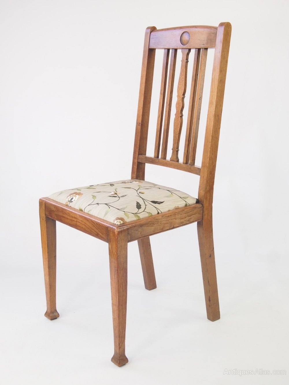 Set 4 oak dining chairs antiques atlas for Oak dining room chairs
