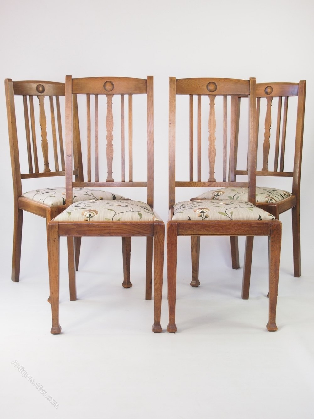 Set 4 oak dining chairs antiques atlas for Oak dining chairs