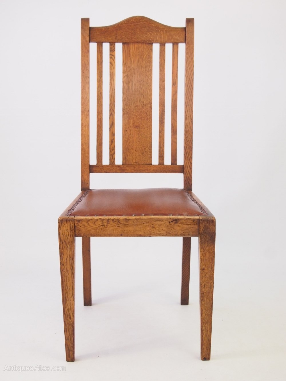 Oak Dinette Chairs ~ Set vintage oak dining chairs circa s antiques atlas