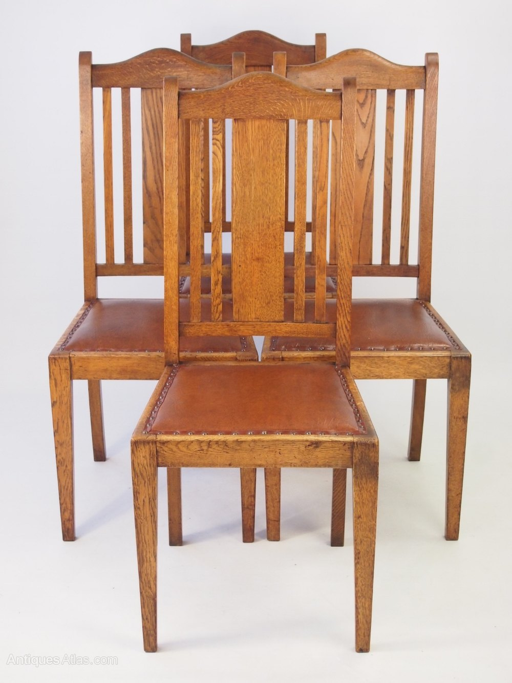 Oak Dining Chairs ~ Set vintage oak dining chairs circa s antiques atlas
