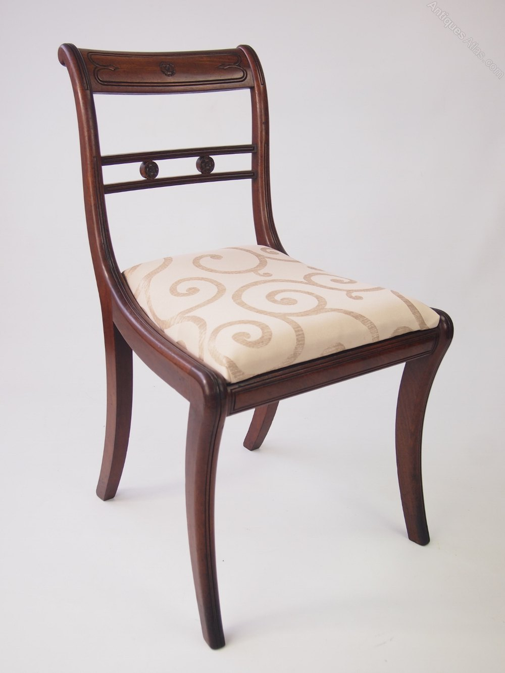 Set 6 regency mahogany dining chairs antiques atlas for Dining seats