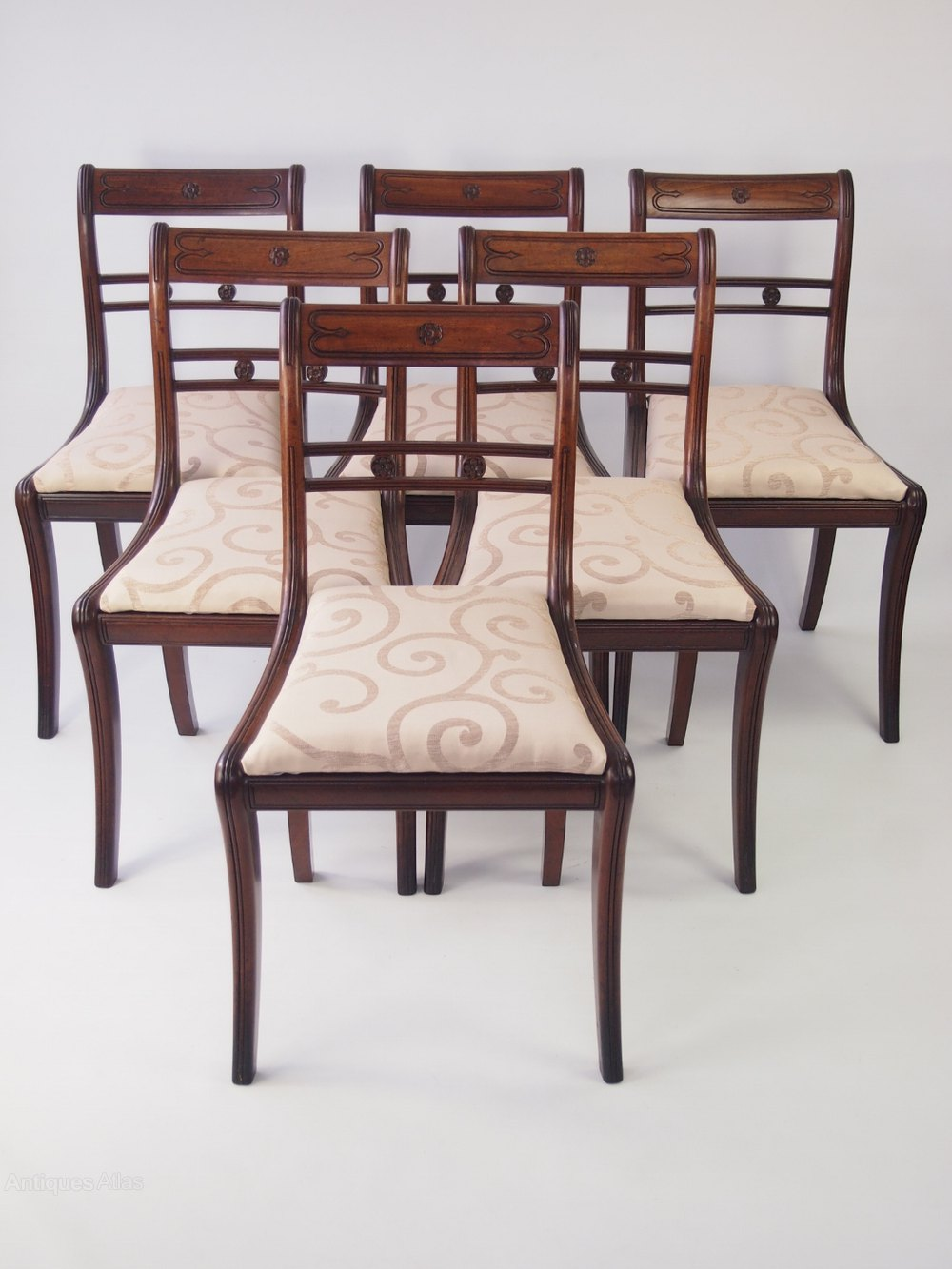 Set 6 Regency Mahogany Dining Chairs Antiques Atlas