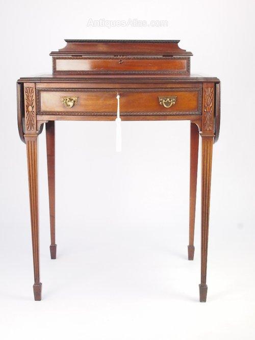 Small antique mahogany ladys writing desk antiques atlas