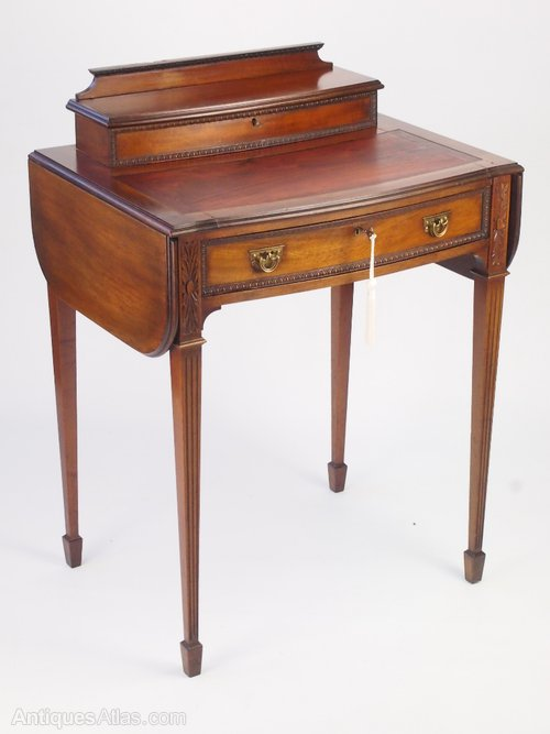 Small Antique Mahogany Ladys Writing Desk ... - Small Antique Mahogany  Ladys Writing Desk - Small Antique Chairs Antique Furniture